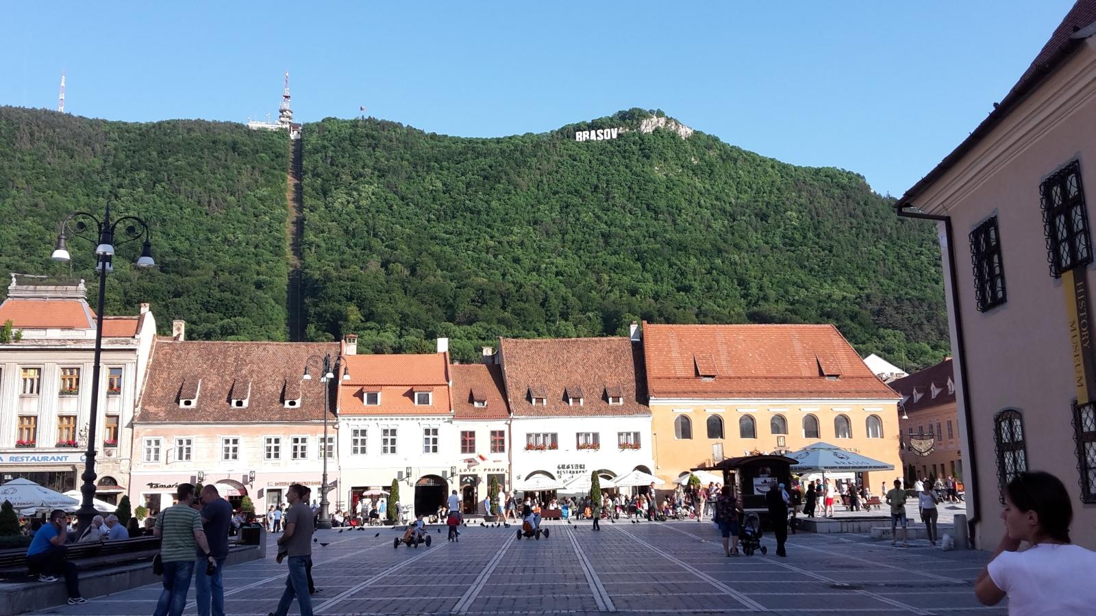 Брашов , град- Кметството, центъра с Черната църква